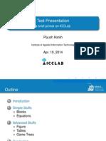 Presentation Test Template
