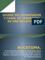 DISEÑO DEL DESRIPIADOR Y CANAL DE TRANSICION DE.pptx