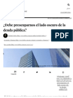 ¿Debe Preocuparnos El Lado Oscuro de La Deuda Pública_ - Forbes México
