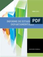 Estadisticas ABRIL 2013