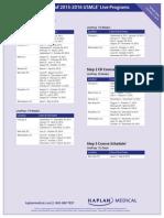 Kaplan USMLE 2015-16 Step 1, 2CK and 3 Schedules
