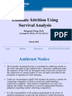Estimate Attrition Using Survival Analysis - Time to Event Analysis