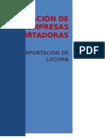 Empresas Exportadoras de  Lúcuma