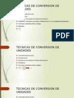 Tecnicas de Conversion de Unidades