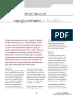 Uso de medicación oral hipoglucemiante e insulina