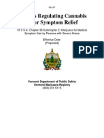 Rules Regulating Cannabis for Symptom Relief