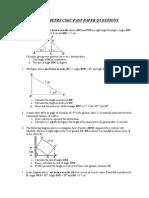 trigonometry csec past paper questions