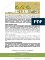 Landlord Certification Fact Sheet