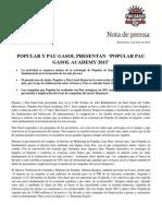Popular y Pau Gasol presentan Popular Pau Gasol Academy 2015