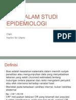 Bias Dalam Studi Epidemiologi