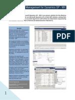 Dynamics GP TAX Management Mexico - Data Sheet