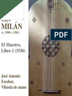 MILÁN, L.- El maestro, Libro 1 (Escobar)