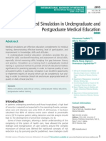 Role of Advanced Simulation in Undergraduate and Postgraduate Medical Education