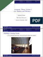 Notes on Microeconomics, Macroeconomics, Optimization