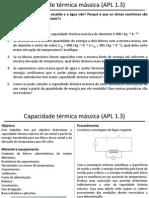 APL 1.3 - Capacidade Térmica Mássica