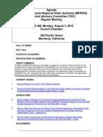 TAC MPRWA Agenda Packet 8-03-15