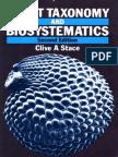 Plant Taxonomy and Biosystematics