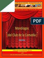 Monologos Del Club de La Comedia. Anonimo. Colección E.O. Julio 11 de 2015