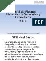 Control of Food Hazards General and Specific Traducción