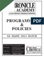 Programmes Policies