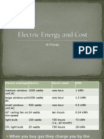 Electric Energy and Cost