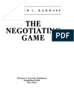Karrass Chester L - The Negotiating Game