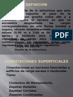 CIMENTACIONES SUPERFICIALES RESUMEN
