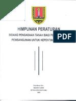 Peraturan Pengadaan Tanah Bagi Kepentingan Umum