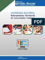 INAI - Relevamiento Territorial Comunidades Indigenas