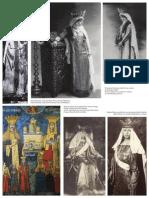 Regina Maria pozand in costume medievale princiare