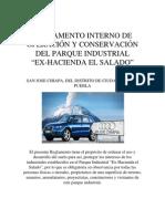Reglamento Interno Parque Industrial