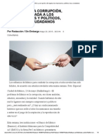 10 CLAVES _ La Corrupción, Sólo Ligada a Los Empresarios y Políticos, Toca a Ciudadanos