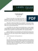 Legal Pulse Memorandum First Quarter 2015