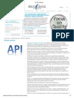 2_API Valve Standards List