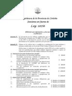 Ley Impositiva 2015 - Cordoba