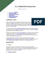 Evaluacion y Formulacion de Proyectos - 1a Parte