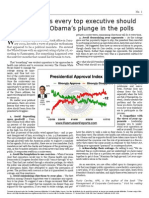 Seven lessons every executive should learn from Obama's plunge in the polls