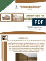 Construcciones con Adobe y Quincha