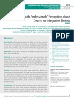 Brazilian Health Professionals' Perception about Death