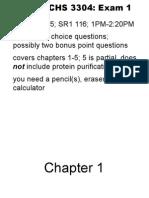 bchs exam review