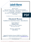 Reception for Elizabeth Warren