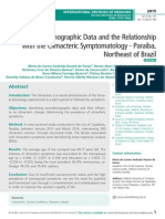 Sociodemographic Data and the Relationship with the Climacteric Symptomatology - Paraiba, Northeast of Brazil