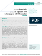 Simultaneous tromboembolic events in a patient with heterozygous MTHFR mutation