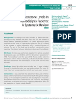 Serum Aldosterone Levels In Hemodialysis Patients