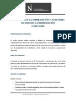 Informacion Seguridad de La Informacion y Auditoria de Sistemas 2015-1