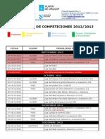 Calendario Semi-oficial 2012 2013
