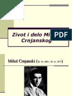 Zivot i Delo Miloša Crnjanskog