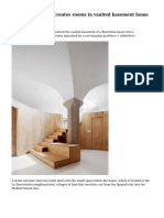 Circular pine wall creates rooms in vaulted basement home by Ra?l S?nchez
