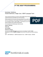 DEV262 - Evolution of the ABAP Programming Language_exercise_solution