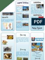 Triptico de la Region Puno - Peru